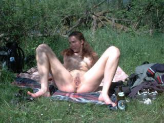 Eva shows naked at the lake 6 of 19