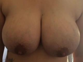 short slo-mo teaser of wife's tits