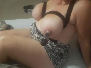Big boobs lube and nipple suckers 12 of 13