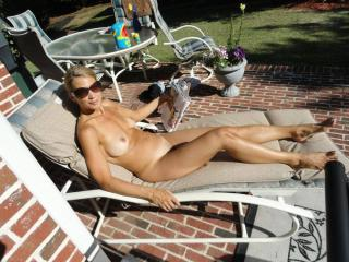 Jade...tanning in the backyard 16 of 20