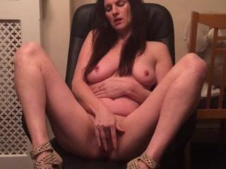 Sexy slut playing with her pussy