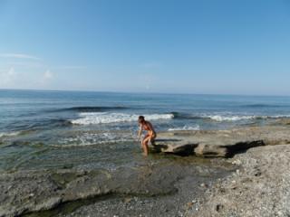 on beach Alanya, Antalia, Turkey