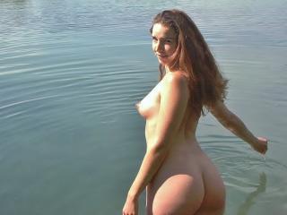 Eva shows naked at the lake 18 of 19