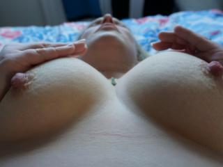 Love Sunday mornings playing with her 34d boobs