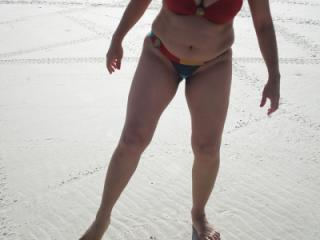 My woman on the beach