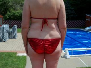 Red bathing suit 3 of 20