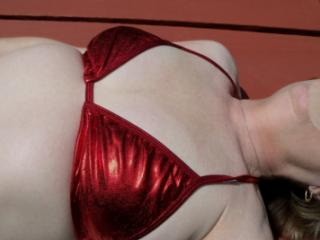 Red bathing suit 11 of 20