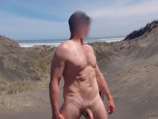 Outdoors in the nude