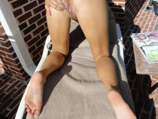 Jade...tanning in the backyard 18 of 20