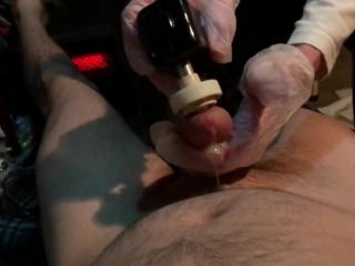 Slow mo vibrator cum shot