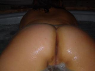 All wet in the tub