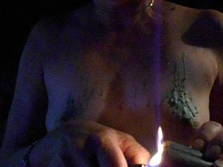 tits in candle light