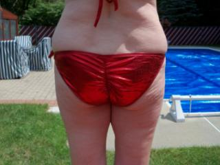 Red bathing suit 4 of 20