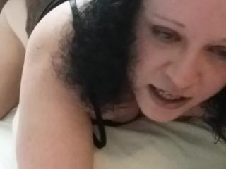 Wife showing how much she loves black