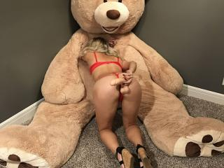 Hot wife w/ teddy bear