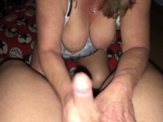 titties handjob and blowjob 1 of 12