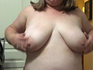 Wife playing with her tits