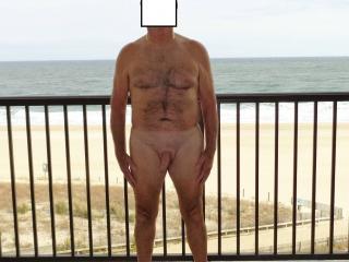 Cassie Nude on the Balcony