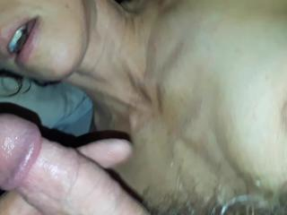 Wife get huge facial