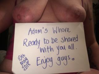 My whore first time sharing