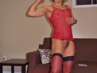 red bustier and stockings3 2 of 20
