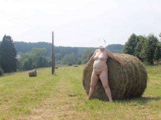 A lonely haystack 6 of 9