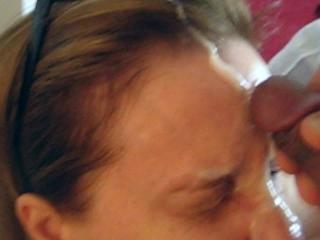 A sticky facial from my hubby