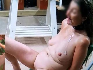 Garage piss and cum pictures