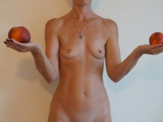 Woman and Peach 1 of 7