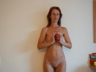 Woman and Peach