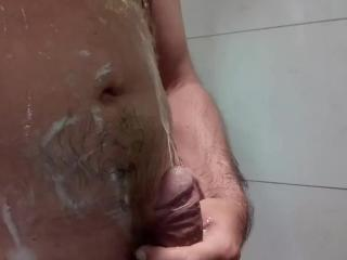 In the shower