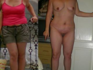 wife dressed/undressed 11 of 16
