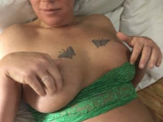 Ivy in Green lingerie