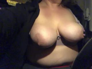 Night time tits out