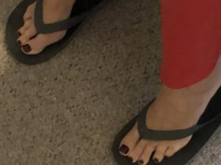 Wife's legs and feet