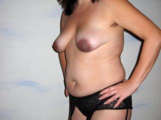 Sandra black lingerie hairy armpits