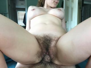 Hairy pussy creampied by big dick