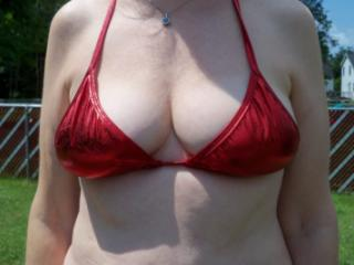 Red bathing suit 6 of 20