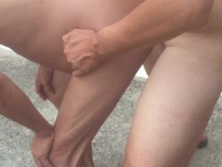 SexyGuy550 - Stripping nude in a parking lot