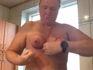 How I tie my tits, on request