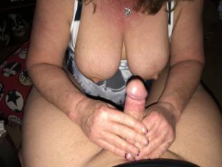 titties handjob and blowjob 8 of 12