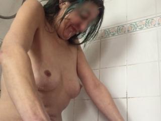 Bath piss and cum again