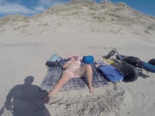 Lorraine masturbating on morfa dyffryn nude beach