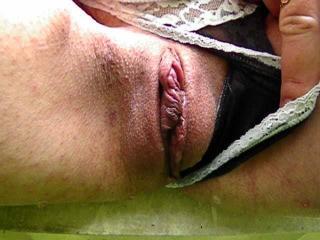 Wet lace panties