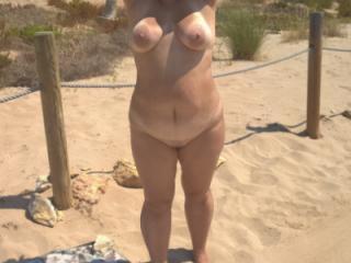 nude on beach