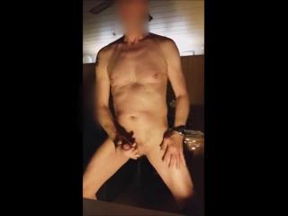 exhibitionist naked solowank slowmotion cumshot