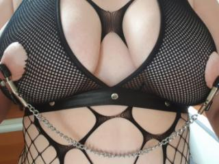 sexy german wife with big boobs shows herself off wearing lingerie
