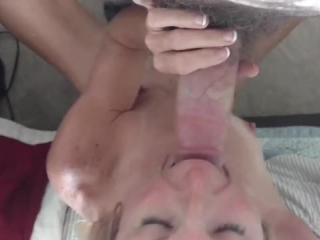 Afternoon cumshot and clean up