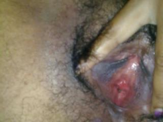 Juicy and hairy ebony