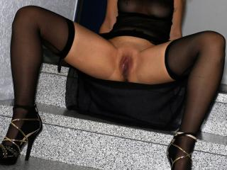 Stairwell posing